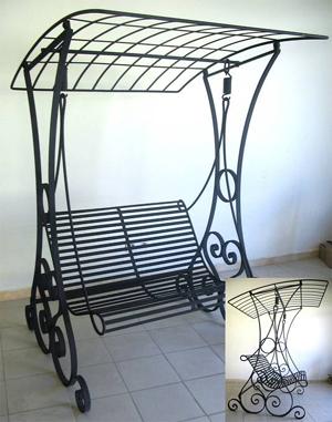 mobilier en fer forg table lit applique balustrade banquette bar canap chaise. Black Bedroom Furniture Sets. Home Design Ideas